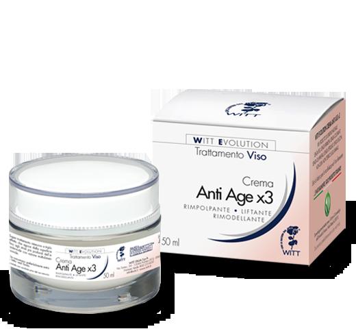 Crema viso antiage X3